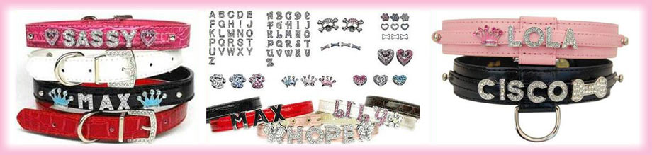 bling bling personalized dog collars