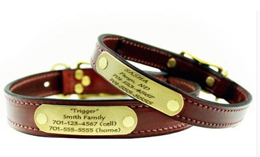 custom leather dog collar personalized