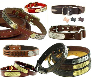 custom leather dog collars