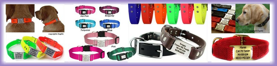 custom dog collars with engraved name plates