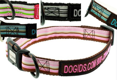 Each collar is individually handmade exclusively for the dog who will wear  it. Collars can be made in 3 styles and 3 widths, for smaller