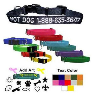 personalized dog collars, embroidered