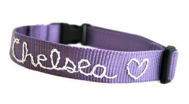 personalized dog collar embroidered
