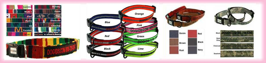 embroidered dog collars