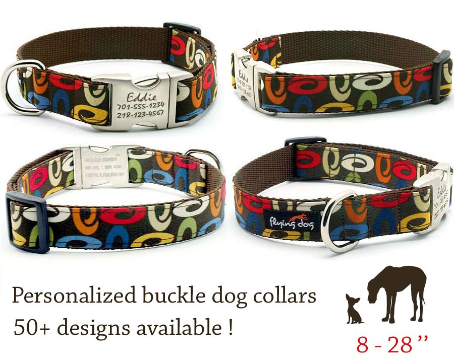 Leather collars for girl dogs
