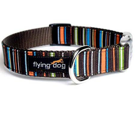 ... dog collar Bronson with custom engraved buckle, by Flying Dog Collars