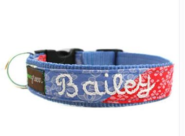 Our personalized dog collars will see your pet home safely. Made in USA.