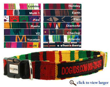 personalized embroidered designer dog collars