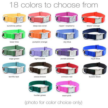 personalized dog collars nylon with custom engraved buckle