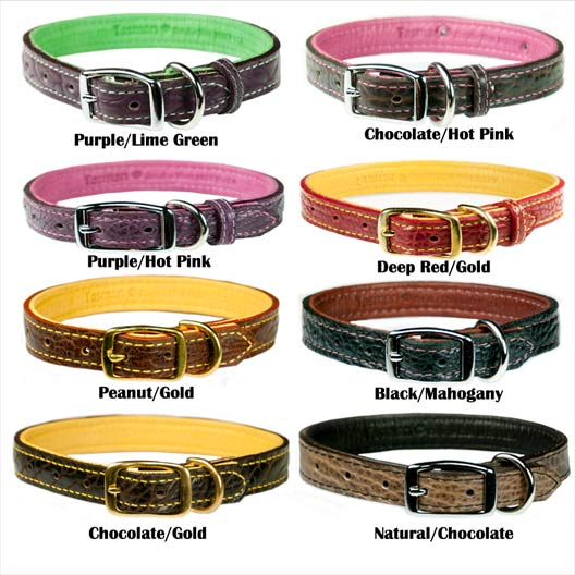 personalized leather dog collars bison and elk