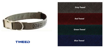 personalized dog collar tweed