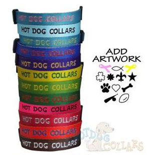 reflective custom embroidered dog collars