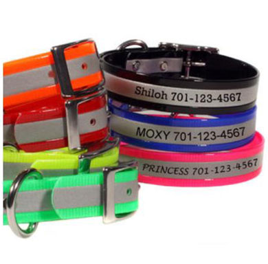 scrufftag soft grip custom personalized dog collars